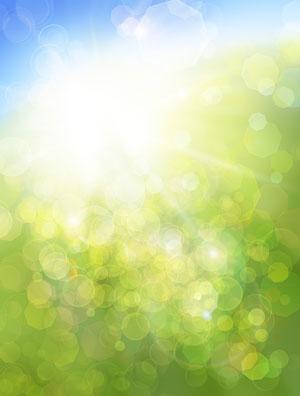 Sunshine through unfocused background
